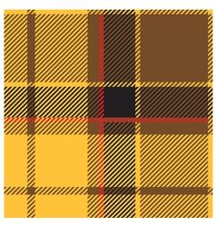 Yellow Tartan Cloth Pattern vector