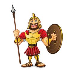cartoon roman army vector image