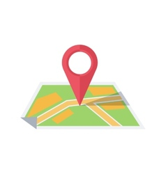 Map with pointer vector image vector image