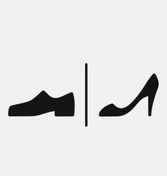 men and women shoes icons vector image