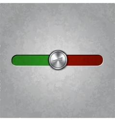Round metal balance knob vector