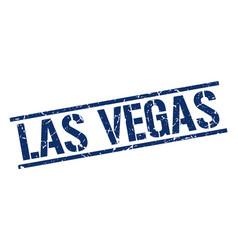 las vegas blue square stamp vector image