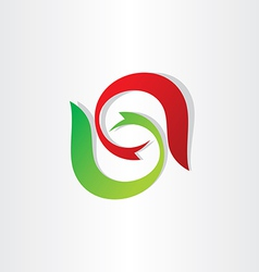 letter s stylyzed symbol design vector image