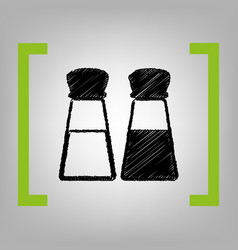 salt and pepper sign black scribble icon vector image vector image