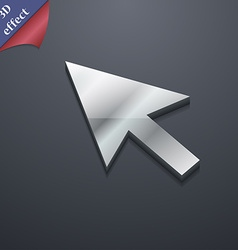 arrow cursor computer mouse icon symbol 3D style vector image