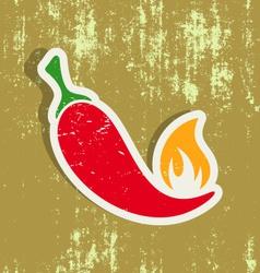 Chilli pepper label vector image