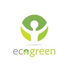 green ecology logo vector image