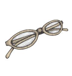 hand drawn eyeglasses vector image