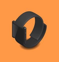 smart watch in 3d vector image vector image