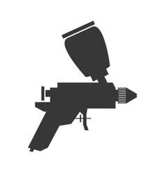 Spray paint tool icon construction and repair vector