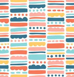 Abstract pattern with stripes and dots vector image