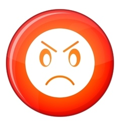 Annoyed emoticon flat style vector image vector image