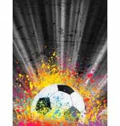 football poster light burst vector image