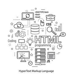 html line art concept vector image