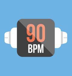 smart watch icon flat style vector image vector image