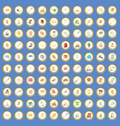 100 house icons set cartoon vector