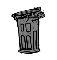 A wastebasket vector image