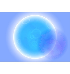 Alien planet view vector
