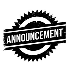announcement rubber stamp vector image vector image