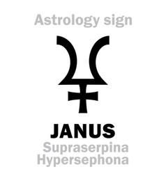Astrology planet janus vector