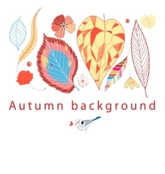 Autumn graphic background vector image