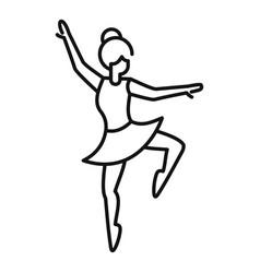 Ballerina stage icon outline ballet dancer vector