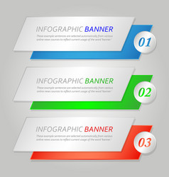 bannerbusiness infographic banner finance graphic vector image