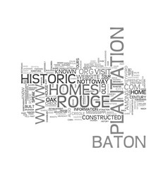 Baton rouge historic homes text word cloud concept vector