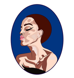 beautigul woman fashion icon in vector image