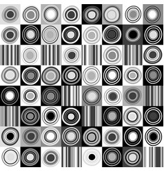 black and white background with dots circles and vector image