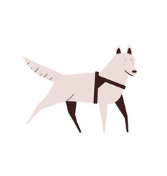 blind dog flat active running vector image