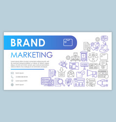 brand marketing banner business card template vector image