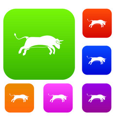 bull set collection vector image