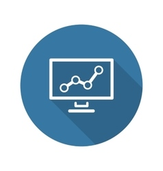 Business Analytics Icon Concept Flat Design vector image