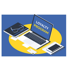 Business teamcustomer loyalty service support vector