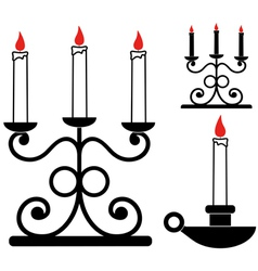 Candlestick vector