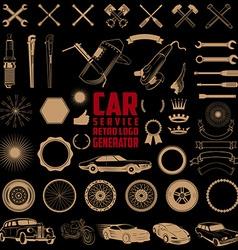 car service logo generator vector image