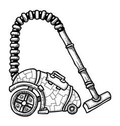 Cartoon image vacuum cleaner vector