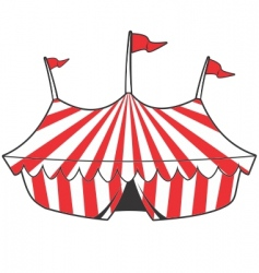 cartoon tent vector image