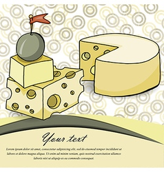 cheese card vector image