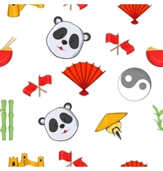 China pattern cartoon style vector