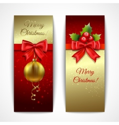 Christmas banners vertical vector image