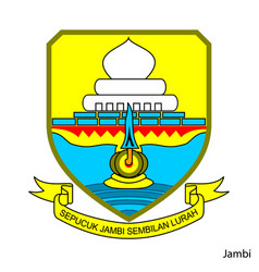 Coat arms jambi is a indonesian region vector