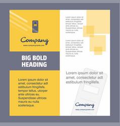 Cpu company brochure title page design company vector
