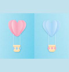 creative love invitation card valentines day vector image