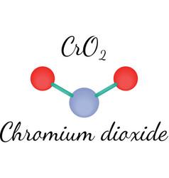 CrO2 chromium dioxide molecule vector