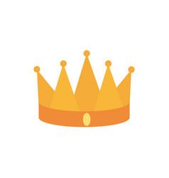 crown monarch jewel royalty king or queen vector image