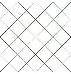 Dark Green Grid White Diamond Background vector