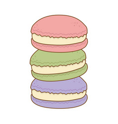 Delicious sweet cookies pastry product vector