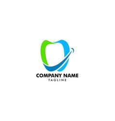 dental smile logo vector image